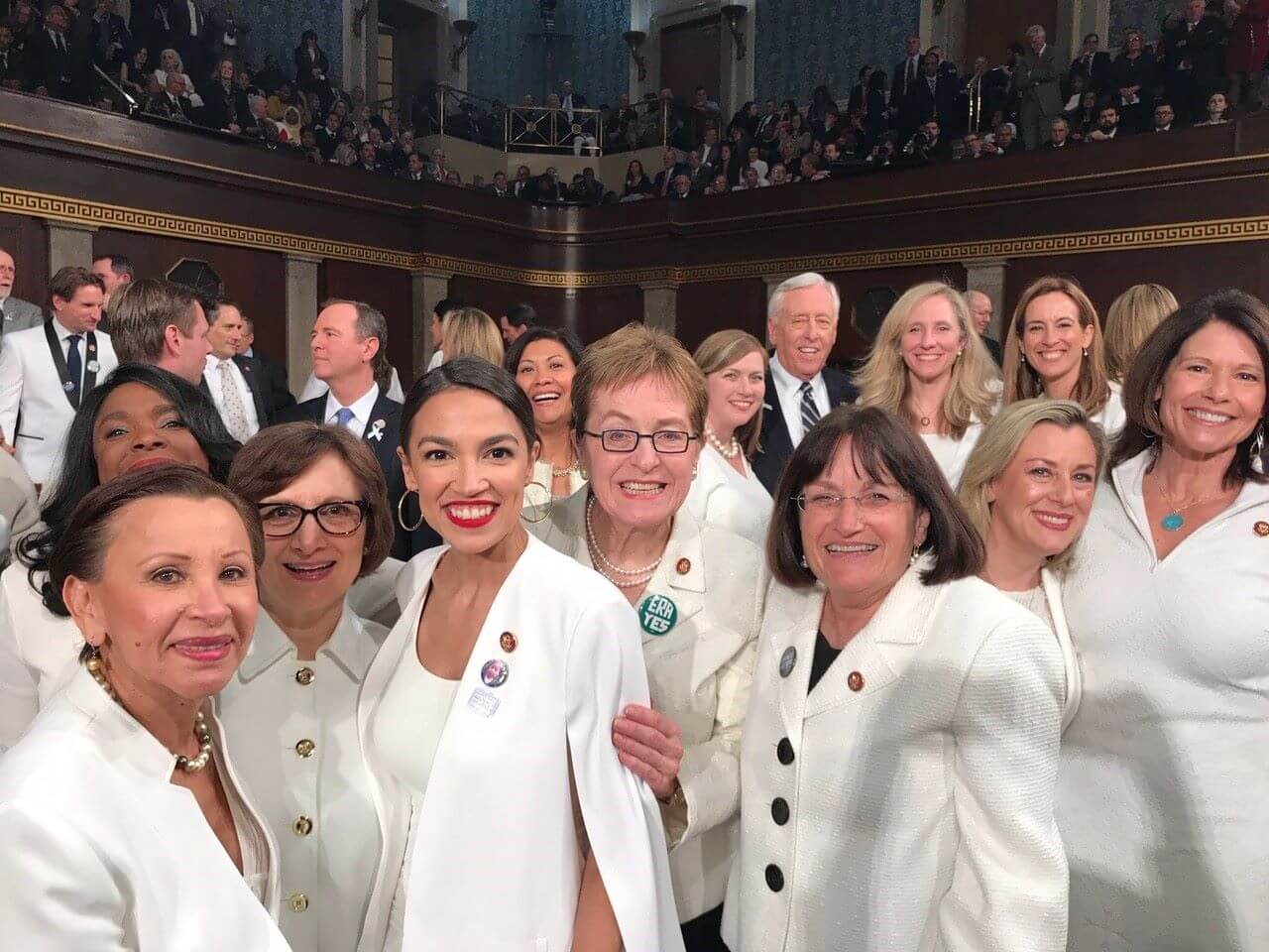 women democrats in white suits