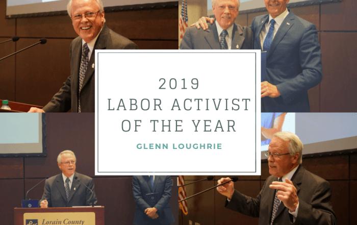 2019 Labor Activist of the Year, Glenn Loughrie